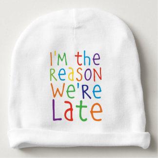 Gorro Para Bebê im a razão estavam atrasado