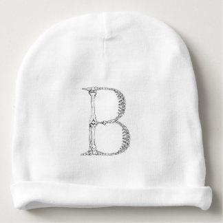 Gorro Para Bebê Inicial do osso da letra B
