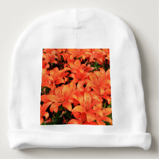 Gorro Para Bebê Liliums alaranjados na flor