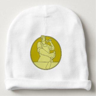 Gorro Para Bebê Linha do círculo do formão do escultor do