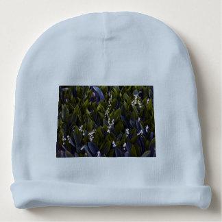Gorro Para Bebê Lírio do remendo da flor do vale com matiz azul