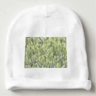 Gorro Para Bebê Lírio do remendo da flor do vale na névoa
