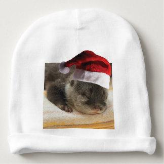 Gorro Para Bebê Lontra sonolento do Natal