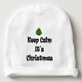 Gorro Para Bebê Mantenha a calma seus Natal e árvore