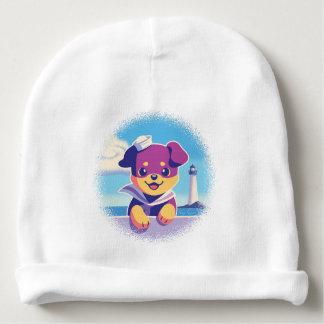 Gorro Para Bebê Marinheiro do cão de mar do filhote de cachorro de