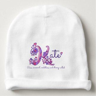Gorro Para Bebê Meninas nome de Kate & chapéu do bebê do