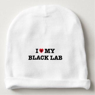 Gorro Para Bebê Mim coração meu laboratório preto
