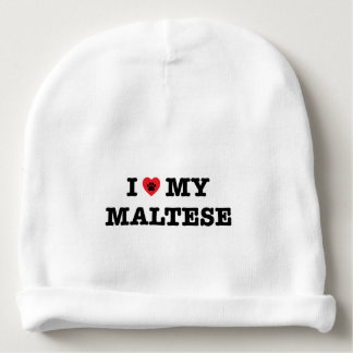 Gorro Para Bebê Mim coração meu maltês