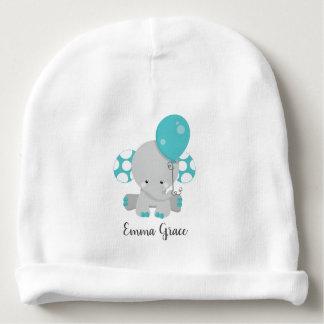 Gorro Para Bebê Monograma neutro do bebê do género do elefante da