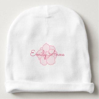 Gorro Para Bebê Nome cor-de-rosa nas flores de cerejeira