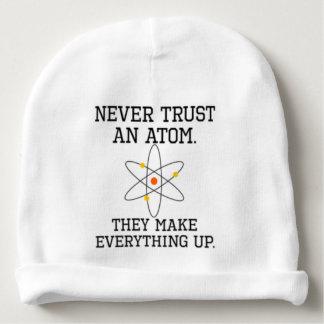 Gorro Para Bebê Nunca confie um átomo - ciência engraçada