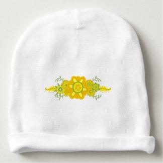 Gorro Para Bebê O amarelo bonito floresce a peça central