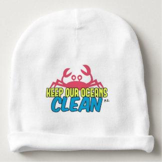 Gorro Para Bebê O ambiente mantem nosso slogan limpo dos oceanos