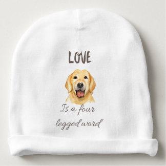 Gorro Para Bebê O amor é uma palavra de quatro patas