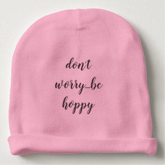 Gorro Para Bebê o chapéu do bebê da malha seja hoppy