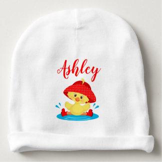 Gorro Para Bebê O chapéu vermelho da chuva do pato da poça do dia