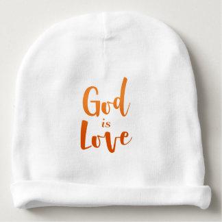 Gorro Para Bebê O deus é bebê espiritual e religioso do amor -