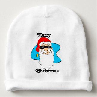 Gorro Para Bebê O Feliz Natal refrigera o papai noel nos óculos de