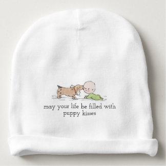 Gorro Para Bebê O filhote de cachorro beija o Beanie do algodão do