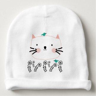 Gorro Para Bebê O jardim do gato branco