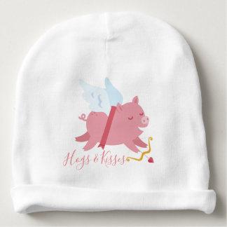 Gorro Para Bebê O porco do Cupido Hogs e beija o Beanie