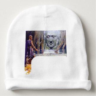 Gorro Para Bebê Odin na frente de Mimir
