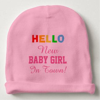 Gorro Para Bebê Olá! bebé novo no chapéu do bebê da cidade
