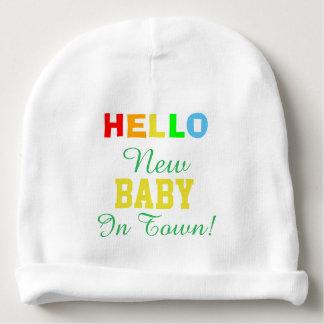 Gorro Para Bebê Olá! bebê novo no chapéu do bebê da cidade