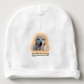 Gorro Para Bebê Os cães são melhores do que seres humanos