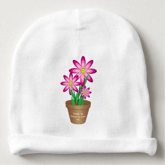 Gorro Para Bebê Os obrigados para ajudar-me crescem - a flor feliz