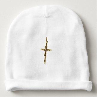 Gorro Para Bebê Ouro transversal do Jesus Cristo horizontal