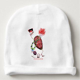Gorro Para Bebê Ovo fabuloso do rubi vermelho de Tony Fernandes