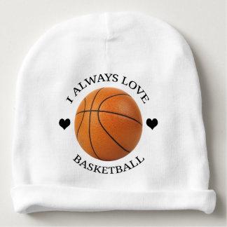 Gorro Para Bebê paixão do esporte do amor do basquetebol