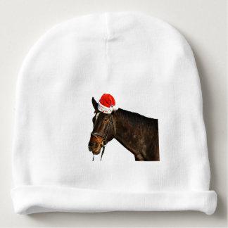 Gorro Para Bebê Papai noel do cavalo - cavalo do Natal - Feliz