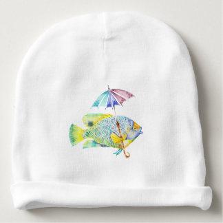 Gorro Para Bebê Peixes do anjo com guarda-chuva