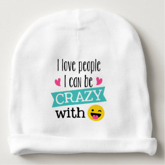Gorro Para Bebê Pessoas loucas de Emoji do amor