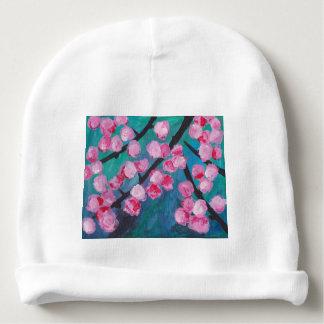 Gorro Para Bebê Pintura japonesa da flor de cerejeira