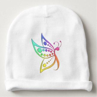 Gorro Para Bebê Pontos Pastel da borboleta do arco-íris