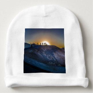 Gorro Para Bebê Por do sol do ponto do zabriskie do Vale da Morte