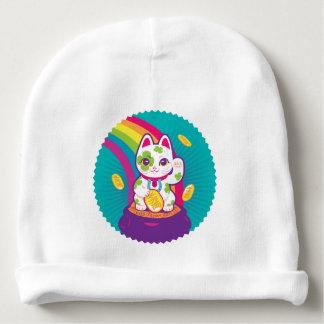 Gorro Para Bebê Pote de boa sorte de Maneki Neko do gato de ouro