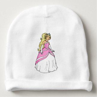 Gorro Para Bebê Princesa bonita na imagem cor-de-rosa dos