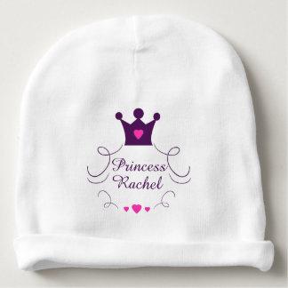 Gorro Para Bebê Princesa cor-de-rosa Coroa Tiara Direitos Coração