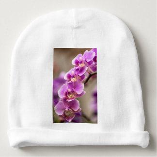 Gorro Para Bebê Profundamente - corrente de flor cor-de-rosa da