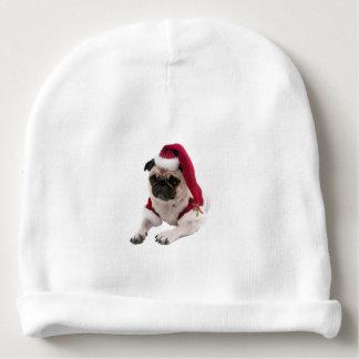 Gorro Para Bebê Pug do Natal - cão de Papai Noel - persiga claus