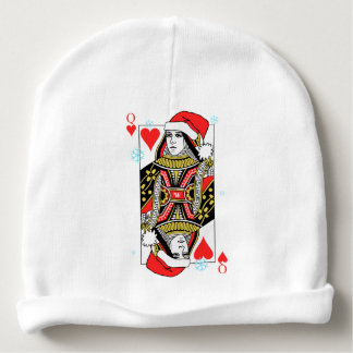 Gorro Para Bebê Rainha do Feliz Natal dos corações