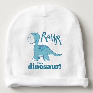 Gorro Para Bebê RAWR eu sou um Diplodocus azul bonito do
