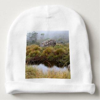 Gorro Para Bebê Reflexões enevoadas da manhã, Tasmânia, Austrália