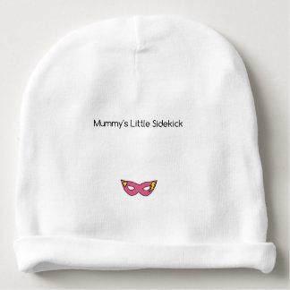 Gorro Para Bebê Rosa pequeno da máscara do super-herói do ajudante
