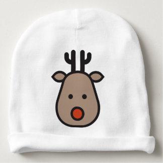 Gorro Para Bebê Rudolf o Beanie do algodão do bebê do Natal da