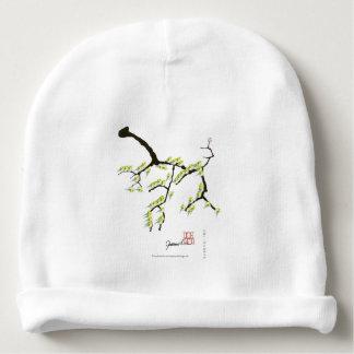 Gorro Para Bebê sakura com pássaros verdes, fernandes tony